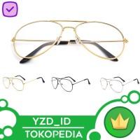 Kacamata Pria dan wanita Transparan retno rb pilot vintage clasik