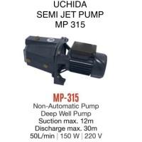 UCHIDA MP 315 pompa air semi jet pump manual setara jet 100