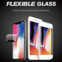 NANO FLEXIBLE TEMPERED GLASS FULL COVER ANTI BREAK 6D 9H IPHONE 5 5S - Putih