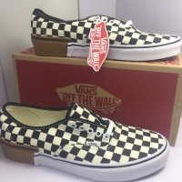 vans authentic gum block checkerboard