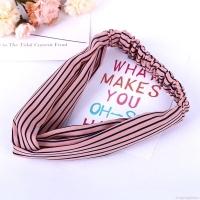 Bandana Pink Motif Garis | Women Headbands Stripe Pink