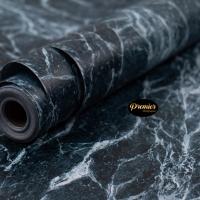 Wallpaper Marble Biru | 45CM x 10M