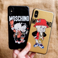Leather Moschino Case Iphone 6 6S 6+ 6S+ 7 7+ 8 8+ X XS MAX XR