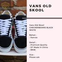 Vans Old Skool CHECKERBOARD BLACK WHITE