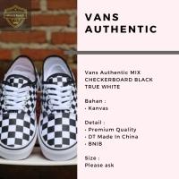 Vans Authentic MIX CHECKERBOARD BLACK TRUE WHITE
