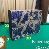 Paperbag Paper Bag Tas Kertas L 30x7x23 Motif Batik Warna Tas Souvenir