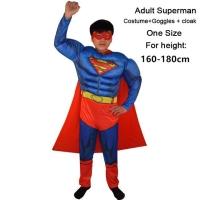 Kostum superman otot dewasa