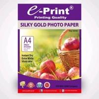 E-print silky gold photo paper A4 kertas foto doff murah bagus