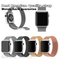 Strap milanese loop magnet apple watch iwatch 4 3 2 1 stainless ori - Hitam, 38 40mm