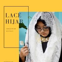 LACE HIJAB/ JILBAB BROKAT/ HIJAB PENGAJIAN TERMURAH //WHITE
