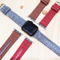 Canvas Leather Strap Apple Watch 38mm 42mm 40mm 44mm