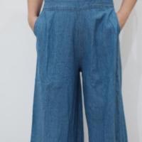 Jumpsuit Kulot. Baju Kodok Jeans Wanita Pinggang Karet ada 2 warna