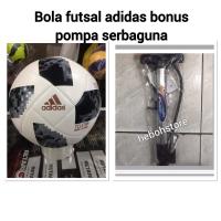 BOLA FUTSAL ADIDAS TELSTAR IMPORT PU BONUS POMPA SERBA GUNA PROMO