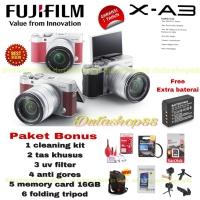FUJIFILM X-A3 KIT 16-50MM OIS II PAKET BONUS - FUJIFILM XA3