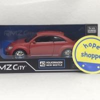 RMZ City Volkswagen New Beetle Merah No 42 Diecast Miniatur Mobil VW