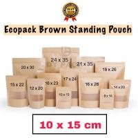 Standing pouch craft ukuran 10x15cm 50gr | kemasan kopi masker bubuk