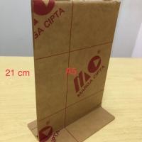 acrylic/akrilik tent card A5