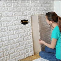 Wallpaper Foam 3D White Brick   70CM x 77CM