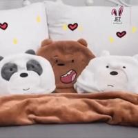 We bare bears bantal selimut travel bantal mobil panda panpan boneka