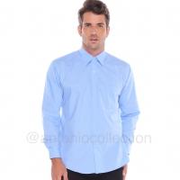 Kemeja Pria Biru Langit Muda Polos Lengan Panjang / Baju Lapangan