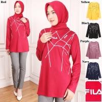 Atasan kaos muslim / blouse modis / kaos big size jumbo zigzag