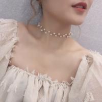 White Pearl Necklace Choker Fashion Korea Aksesoris Perhiasan Wanita
