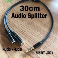 Audio Splitter Connecter 3.5MM Earphone Jack 1 Male to 2 Female