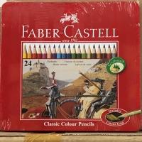 Classic Colour Pencil 24L / Pensil 24 Warna Faber Castell Tin Case