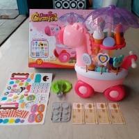 Mainan anak sweet chart gerobak es krim candy permen giraffe suara