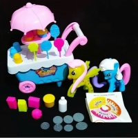 Mainan anak gerobak es krim luxury ice cream sweet chart little pony