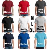 Kaos Polos Pria O-Neck M L XL / Kaos Katun PE Pria