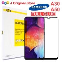 MAXFEEL Tempered Glass Samsung A50 A30 Full Cover Full Glue Premium