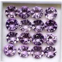 Natural Amethyst Kecubung Ungu Tabur Stempel Cut Diamond 4x4x3mm Batu
