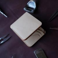 Bifold wallet Vegetable Tanned krivo / dompet pendek / dompet pria