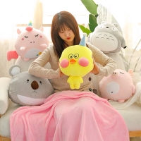 Boneka Bantal Selimut Duckling , Balmut Koala, Unicorn, Totoro And Pig