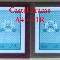 Bingkai /Frame Foto A4/11R : 21 x 30 Silver Coklat serat kayu