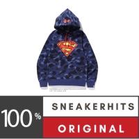 Bape x DC Superman Color Camo Pullover Hoodie Navy Jaket Bape Original