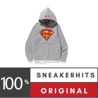 Bape x DC Superman Pullover Hoodie Grey Jaket Bape Authentic Original