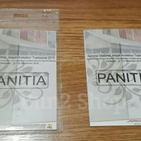 Cetak Kertas Panitia uk 10,5 x 15 / Kertas Name Tag / ID Card name tag