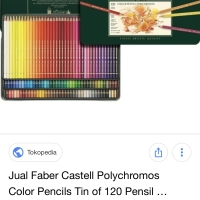 Pensil warna polychromos faber castell 120 warna tin case