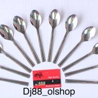(12pcs) sendok Es Teh / Es kelapa stainless steel