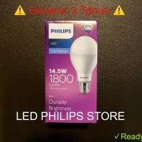 Lampu Bohlam LED Philips 14 Watt Putih/Cool Day Light (14W 14 W 14Watt