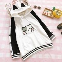Sweater Hoodie Cat Ear Baju Wanita Best Seller Shirt - 3061