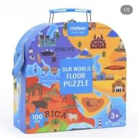 Mideer our world floor puzzle mainan edukasi anak