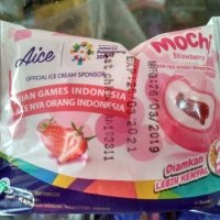 ice cream AICE Eskrim mochi strawberry aice