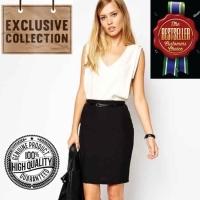 Rok Hitam Mini Span Bodycon Pensil Korean Skirt Stretch Impor-AF SK 08