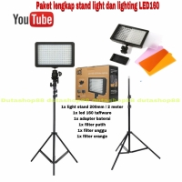 PAKET LED 160 VIDEO LIGHTING + STAND LIGHT - STUDIO FOTO VIDEO MURAH