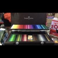 Pensil warna polychromos wooden case faber castell 120 w