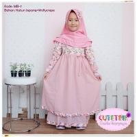 Gamis anak/ baju muslim anak 2 layer cutetrik