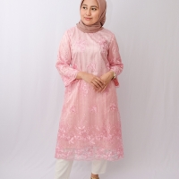 Tunik / Dress Brukat - Pink